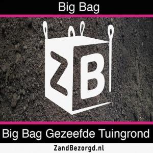 Big bag gezeefde tuingrond - kuub zwarte grond